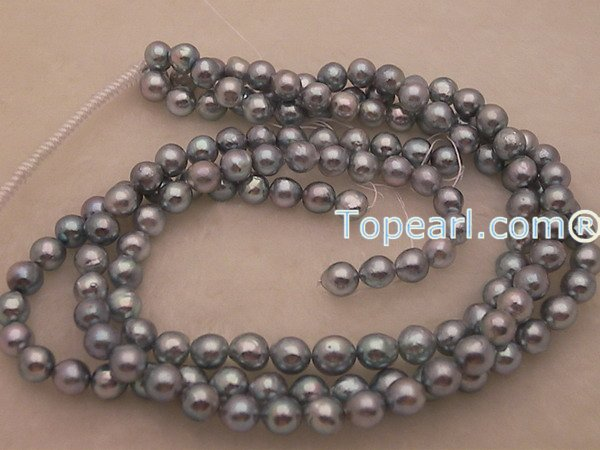 Black akoya baroque pearls